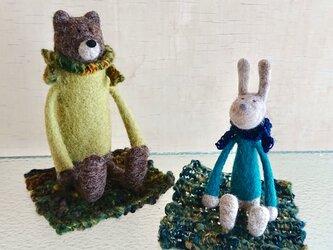 【かじゅくる様専用】クマくんとウサギさんの画像