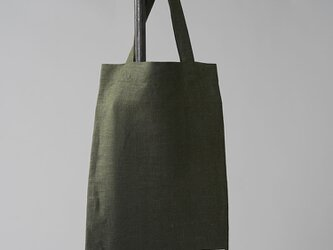 【wafu】中厚 リネン バッグ かばん 鞄 エコバッグ リネンバック リネンバッグ/カーキ z013b-khk2の画像