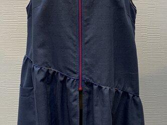 前あきジャンバスカート(着物リメイク)の画像