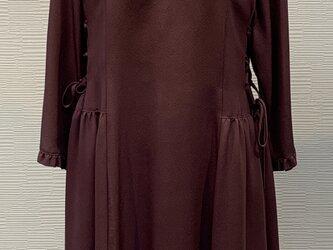 ワンピース(着物リメイク)(古代紫)の画像