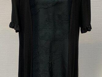 ワンピース(着物リメイク)(黒帯)の画像