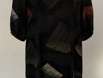 ワンピース(着物リメイク)(正絹漆塗柄)の画像