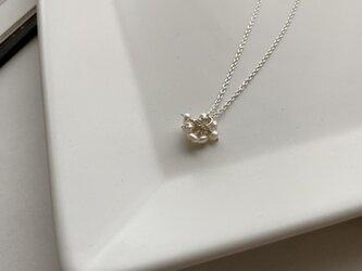 Silver925 淡水芥子パールブーケネックレスの画像
