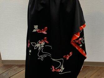 スカート(着物リメイク)(絵羽織)(ゴム入り)の画像