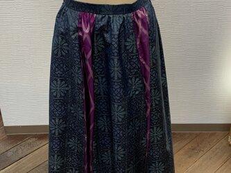 スカート(着物リメイク)(大島)(銘仙)の画像