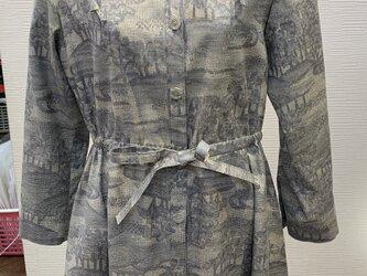 チュニックコート(着物リメイク)(紬)の画像