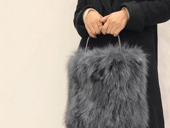 ¶ new antique fur ¶ グレーフォックスファートートバッグの画像