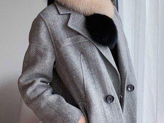 ¶ new antique fur ¶ マルチカラーフォックスショールマフラーの画像