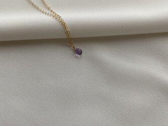 14KGF 宝石質AAA Tinyラベンダーアメジストネックレスの画像