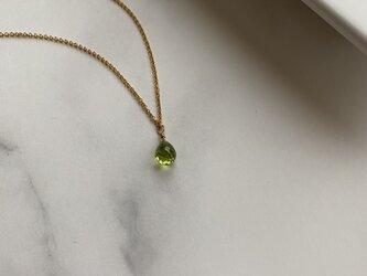 14KGF 宝石質AAAペリドットネックレスの画像