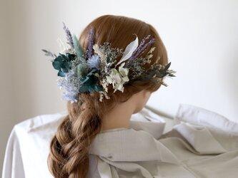 【リメイクOK】ボタニカルヘッドドレス(ナチュラルブルー) #770の画像