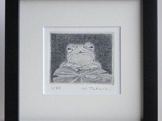 かえる・2020A / 銅版画 (額あり)の画像