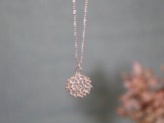 Silver necklace「Star grain」の画像