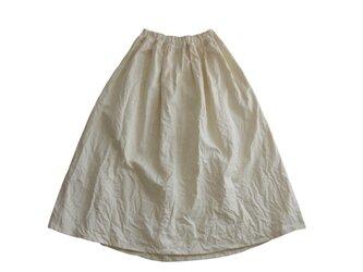 コットンリネンギャザースカート*バニラホワイトの画像