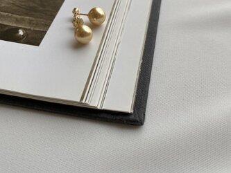 14KGF Golden Pearls 8mmアップ Gold piercedの画像