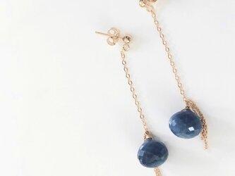 【限定1点】blue opal*long pierceの画像
