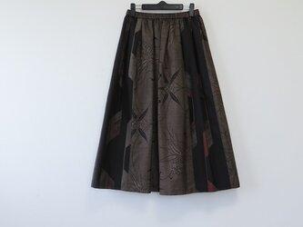 *アンティーク着物*泥大島紬のパッチスカート(7マルキ・5マルキ・裏地つき)の画像