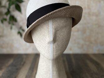 【即納】夏帽 combi white+grayの画像