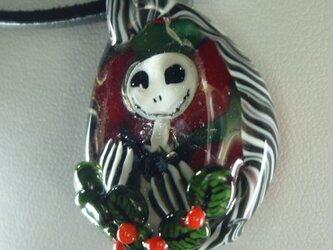 柊、ジャック(ガラス、クリスマス、ハロウィンペンダント)の画像