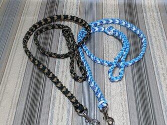 LoveLove編みのリード 小型~中型犬用 お揃いの首輪も作れます(全長120cm)の画像