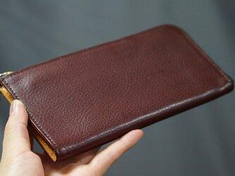 滑らかファスナーItay LeatherファスナーL字長財布#サービス品の画像