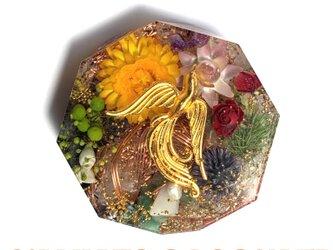 鳳凰 ケオン 幸運 金運 癒し メモリーオイル コースター型 オルゴナイトの画像