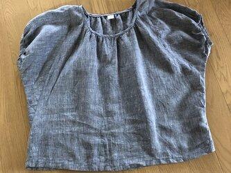 リネンで変わり袖ブラウスM~Lの画像