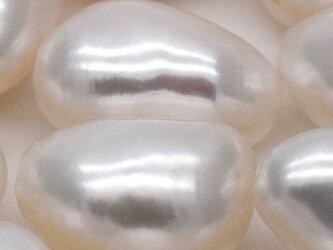 大粒 12~14mm*8~11mm 高品質バロック淡水パール 6粒 本真珠 オーロラ ボタンの画像