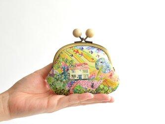 """木玉 リバティがまぐち(MS) - Liberty """"Royal Oak House"""" natural〔005〕の画像"""
