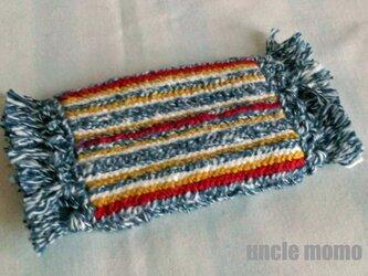 ドール用ツヴィスト刺繍のラグ(玄関・ルームマット)German 1/12ミニチュア・ファブリックの画像