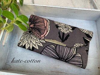 ■チョット小さめ☆軽い長財布・ボタニカル柄ブラウンの画像