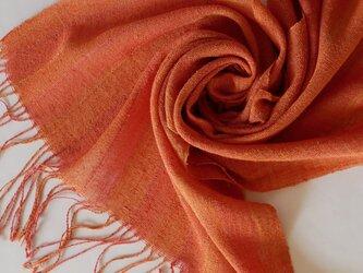 草木染め 手織りシルクストール ST26の画像