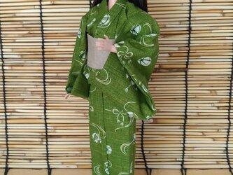 「手毬の浴衣…緑」28~30cmドール着物の画像