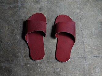 room shoes イタリアンレザー使用《Mサイズ》ワインの画像