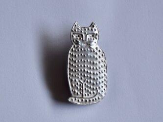 ブローチ(銀彩) ネコ-13の画像