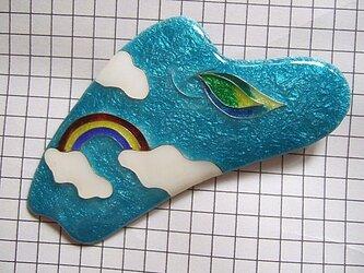 銀七宝 有線 ブローチ Rainbowの画像