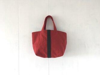【受注製作】濃赤×チョコ色の鞄の画像