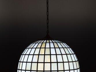 グリーンボーダーのランプシェードの画像