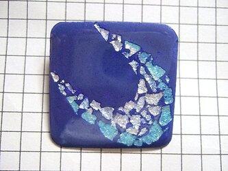 銀七宝 銀箔 ブローチの画像