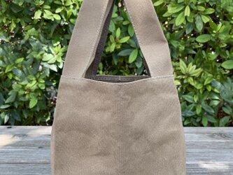 帆布エコバッグ レジ袋タイプ 小 クラフトの画像