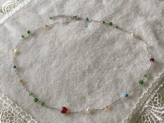 大人可愛い銀鎖のネックレス N20の画像