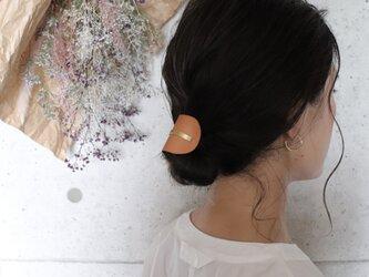 【美容師が考えたポニーフックレザー 「このは 」】ベージュ/ポニーフック(ヘアフック・ヘアカフ)の画像