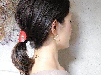 【美容師が考えたポニーフックレザー 「このは 」】レッドシボ/ポニーフック(ヘアフック・ヘアカフ)の画像