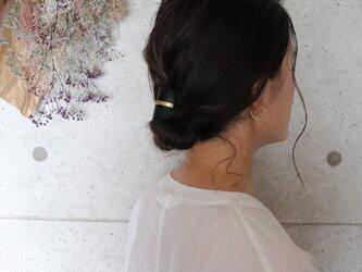 【美容師が考えたポニーフックレザー 「このは 」】ブラック/ポニーフック(ヘアフック・ヘアカフ)の画像