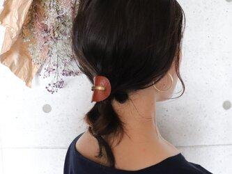 【美容師が考えたポニーフックレザー 「このは 」】ブラウンシボ/ポニーフック(ヘアフック・ヘアカフ)の画像