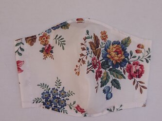 リバティ大人用Mサイズ 白花の画像