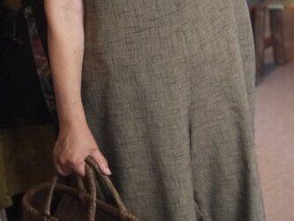 久留米絣サロペットパンツの画像