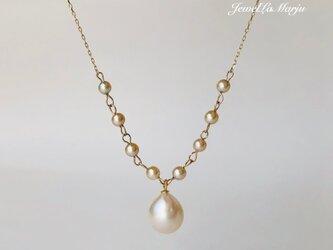 K10 あこや真珠 drop ペンダントの画像