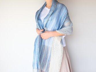手織りシルクストール【紗月*01】の画像