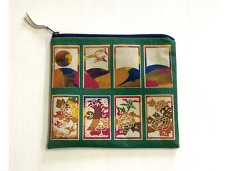 ファスナーポーチ[花札]緑の画像